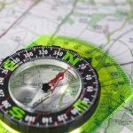 Kaart en kompas