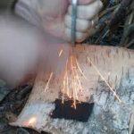 vuursteen-en-vuurslag-maken-vonken